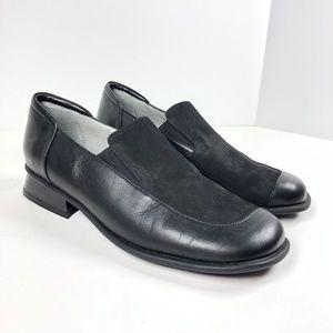 NWOB Beautifeel Sz 41 Black Leather Suede Loafers